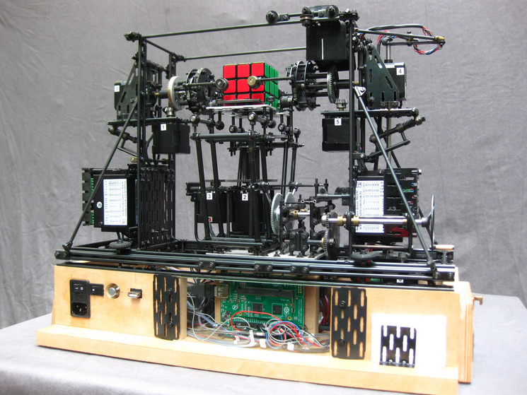 A Rubix Cube Solver That Uses The Raspberry Pi Compute Module