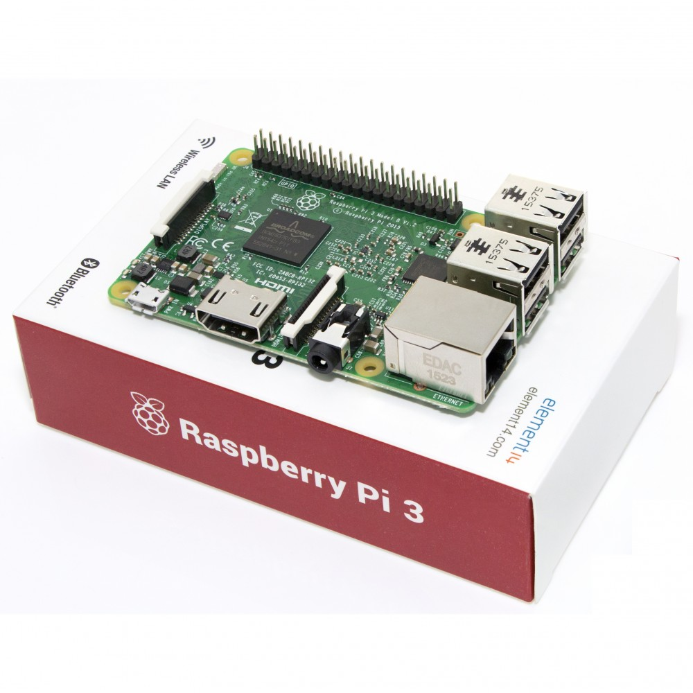 Raspberry Pi 3 Model B with Box